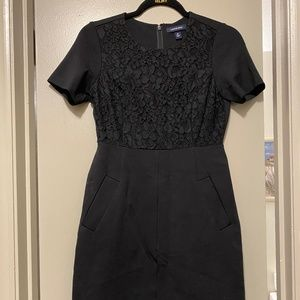 Lands End Ponte Sheath Dress (Pockets!)